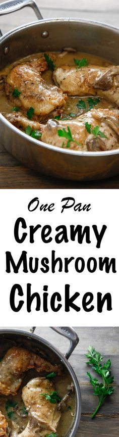 One Pan Creamy Mushr