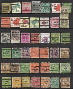 43 US Stamps,# 692 -11¢ Hayes light blue bureau PreCancel Postage due Piona ILL #stamps