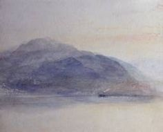 Joseph Mallord William Turner 'Mount Pilatus from across Lake Lucerne', - Watercolour and scratching out on paper - Dimensions Support: 217 x 268 mm - © Private Collection, UK Joseph Mallord William Turner, Watercolor Landscape Paintings, Watercolor And Ink, Abstract Nature, Abstract Landscape, Turner Watercolors, Turner Painting, English Artists, Art Sketchbook