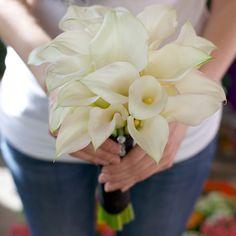 calla lily bridal bouquet by v&j plant shop