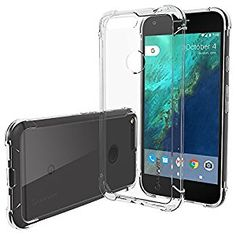 Google Pixel Case Clear, LUVVITT [Clear View] Hybrid Scratch Resistant Back Cover with Shock Absorbing Bumper for Google Pixel - Crystal Clear by Luvvitt