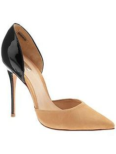 Black or nude?  Problem solved with these pumps!