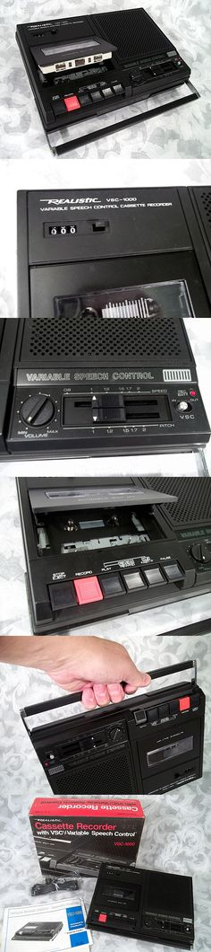 Sold Vtg 1980s REALISTIC CASSETTE RECORDER VSC-1000 VSC VARIABLE SPEECH CONTROL