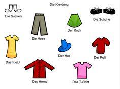 oblečení německy