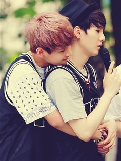awww taetae and yoongi <3