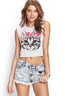 Flower Crown Kitten Tank