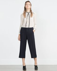 104a3ef2 Image 1 of CULOTTES from Zara Cute Work Outfits, Winter Outfits For Work,  Culottes