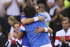 AP                  Published 12:05 p.m. ET April 8, 2017   Updated 18 minutes ago        Jeremy Chardy of France jubilates with Yannick Noah at the end of their Davis Cup quarterfinal tennis match between France and Britain at the Kindarena Stadium of Rouen, France, Friday, April...  http://usa.swengen.com/france-into-davis-cup-semis-after-doubles-win-vs-britain/