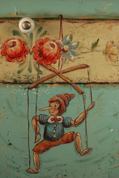 Pinocchio Table Tole Painting Patterns, Wood Patterns, Henna Patterns, Art Deco Cards, Face Painting Tutorials, Flower Fairies, Painting On Wood, Painting Inspiration, Wood Art