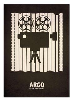Argo (2012) ~ Minimal Movie Poster by David Peacock