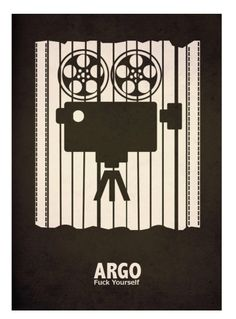 Argo (2012) ~ Minimal Movie Poster by David Peacock