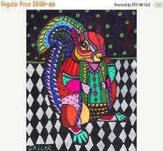 50% Off FREE Shipping WORLDWIDE Squirrel art by HeatherGallerArt