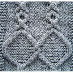 Medallion Cables Square Knitting pattern by Terry Morris | Knitting Patterns | LoveKnitting