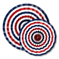 4th of July Red, White, and Blue Paper Fan