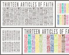 The Family - A Proclamation to the World was read by President Gordon B. Hinckley as part of his message at the General Relief Society Meeting. September 23, 1995 Includes all words from the proclamation. This is a great piece of art with an important message for your family. Included in this download are 7 files in 16x20/8x10 (which can nicely be cropped to an 11x14 or 5x7). Bright Multi-Color on White Black on White White on Black White on French Roast, Navy, Emerald, and Apple. Bonus…