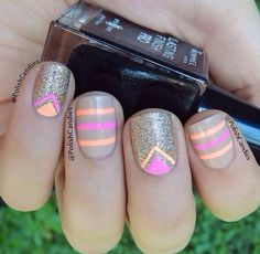 Nudes and neons sparkle nails, neon nails, glitter nails, fancy nails, love Sparkle Nails, Neon Nails, Fancy Nails, Love Nails, Glitter Nails, Pretty Nails, My Nails, Gold Glitter, Gold Nail