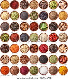 Spice blends are incredibly easy to make and add marvelous flavor to recipes. Buying spices in bulk, then mixing your own spice blends, can actually save you money in the long run. If purchasing organic. List Of Spices, Spices And Herbs, Indian Spices List, Fresh Herbs, Names Of Spices, Indian Food Recipes, Dog Food Recipes, Cooking Recipes, Food Tips