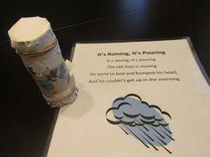 It's raining, it's pouring preschool lesson