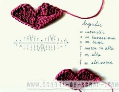 Escuela ganchillo crochet patrones de los labios Crochet Applique Patterns Free, Crochet Chart, Crochet Doll Pattern, Crochet Motif, Amigurumi Patterns, Crochet Dolls, Crochet Flowers, Crochet Stitches, Knit Or Crochet