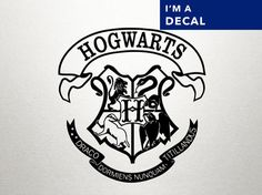 HARRY POTTER HOGWARTS Crest Decal by DungeonsAndDecals on Etsy