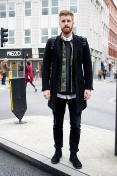 London Collections Mens Street Style Autumn Winter Fall