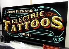 Signs & Letters - Saloon Signs - Traditional Sign Painter - Sign Writer - Glasgow, Scotland. Signs, Vehicles