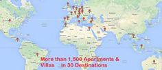 More than Apartments & Villas in 29 Destinations Worldwide! Apartments In Dubai, Serviced Apartments, Holiday Apartments, Rental Apartments, Holiday Accommodation, Villa, Map, Location Map, Cards