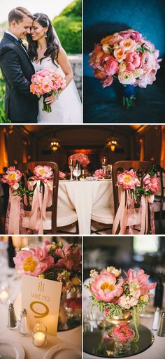 art deco inspired pink conneticut country club wedding
