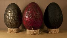 Dragons eggs from Game of Thrones