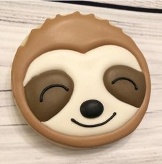 Last night was a late cookie night so I'm feeling like this guy today! Fancy Cookies, Iced Cookies, Cute Cookies, Royal Icing Cookies, Sugar Cookies, Cupcakes, Cupcake Cookies, Sloth Cakes, Happy Friday
