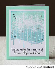 Hero Arts Cardmaking Idea: Peaceful Winter Trees