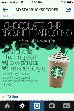 Starbucks Secret Menu: Make this Drink, just ADD Coffee OR order it using this Info-Graphic. Frappuccino Recipe, Starbucks Frappuccino, Starbucks Coffee, Starbucks Hacks, Starbucks Secret Menu Drinks, Secret Menu Items, How To Order Starbucks, Yummy Drinks, Refreshing Drinks