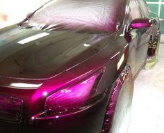 "Ace-1: Candy Purple 2010 Nissan Maxima on 26"" Forgiatos"