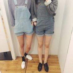 I love overalls. Ulzzang Fashion, Indie Fashion, Hipster Fashion, Grunge Fashion, Urban Fashion, Teen Fashion, Love Fashion, Fashion Beauty, Fashion Outfits