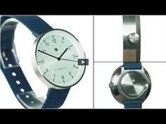 The Drumline watch by Newgate Watches. A minimalist steel watch with blu...