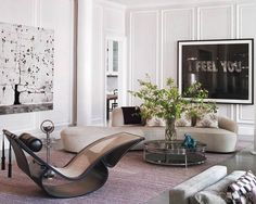 ROSEY HUED INTERIORS: #5 Living room by Timothy Archambault and Nina Seirafi. Photo by Pieter Estersohn