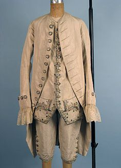 Evening or court suit, late 18th century England