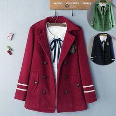 """Harajuku fashion woolen coat SE9216   Fashion condole belt yarn dress SE9220   Coupon code """"cutekawaii"""" for 10% off"""