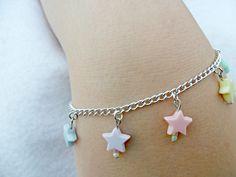 Fairy Kei Star Bracelet, Candy Pastels, Cute & Kawaii :).  via Etsy.