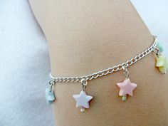 Fairy Kei Star Bracelet, Candy Pastels, Cute & Kawaii :).  via Etsy.