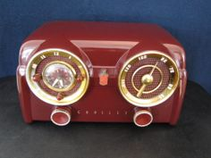 VINTAGE RARE COLOR OLD CROSLEY MID CENTURY BAKELITE DASHBOARD RADIO PLAYS GREAT