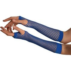 Blue Fishnet Mesh Net Fingerless Party Gloves - Gloves at Amazon... (€10) ❤ liked on Polyvore featuring accessories, gloves, mesh fingerless gloves, net gloves, mesh gloves, fingerless gloves and fishnet gloves