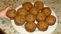 Pumpkin Chocolate Chip Muffins  I made them tonight with Stevia & Gluten free flour. They turned out great!