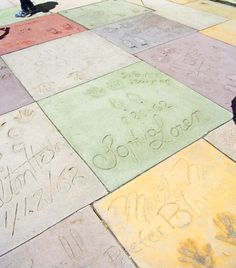 Los Angeles / Hollywood Chinese Theatre celebrity hand prints. #LA #travel