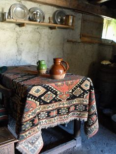 Carpet tablecloth, by SolsticeHome
