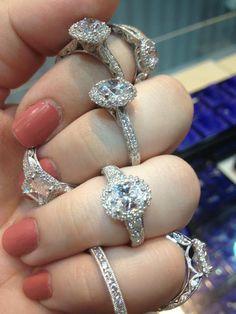 Capri Jewelers Arizona ~ www.caprijewelersaz.com Diamond engagement rings by Tacori. Via Diamonds in the Library.