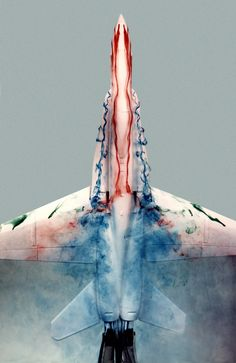 Colored flow visualization on the F/A-18