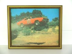 General Lee Dukes Of Hazzard Photo Frame Wall Hanging by Rustage, $49.00