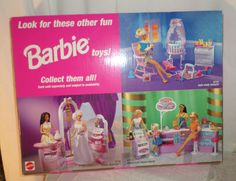 Barbie Baby Home Nursery, Bridal Boutique and Candy & Ice Cream Parlor Playsets by Mattel, 1998