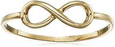 14k Yellow Gold Italian Infinity Ring Size 7 * You can get more details by clicking on the image.(It is Amazon affiliate link) #commenting